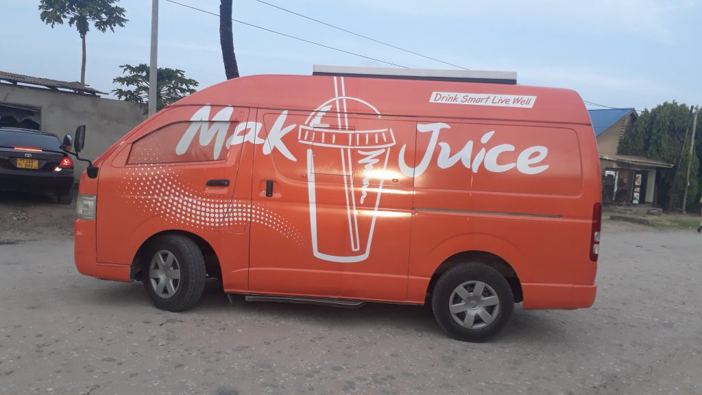 sds tanzania limited printing branding signage for makjuice 3